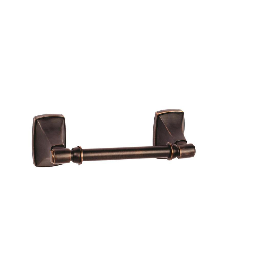 Clarendon Pivoting Double Post Tissue Roll Holder in Oil-Rubbed Bronze