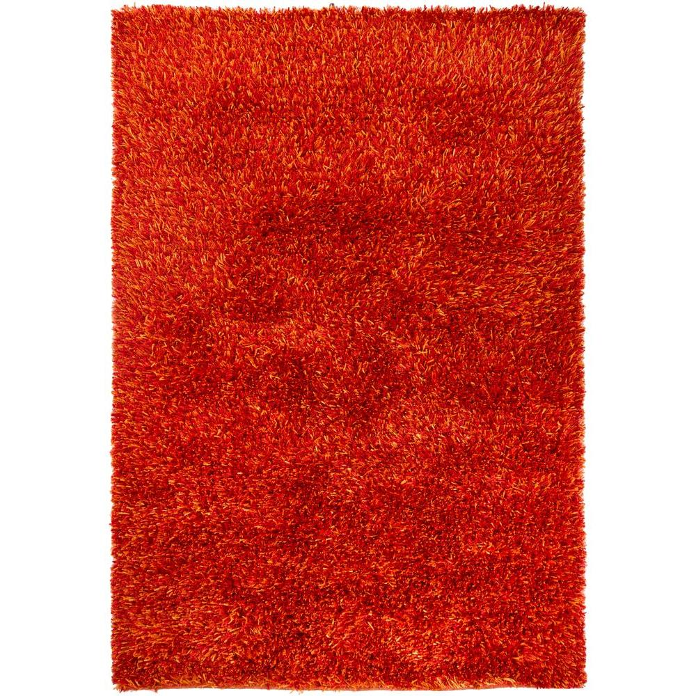 Chandra Tulip Red Yellow 8 Ft X 11 Indoor Area Rug