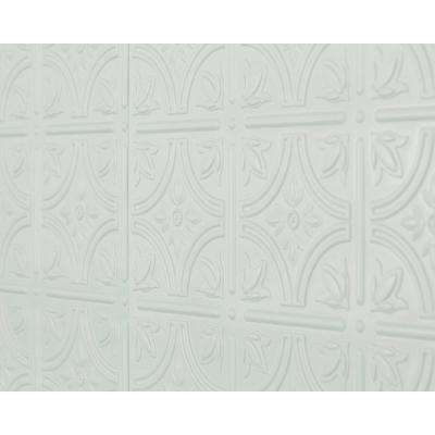 Empire 18.5 in. x 24.3 in. PVC Backsplash Panel in Snow White