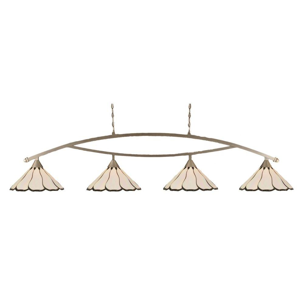 Concord 4-Light Brushed Nickel Incandescent Ceiling Island Pendant