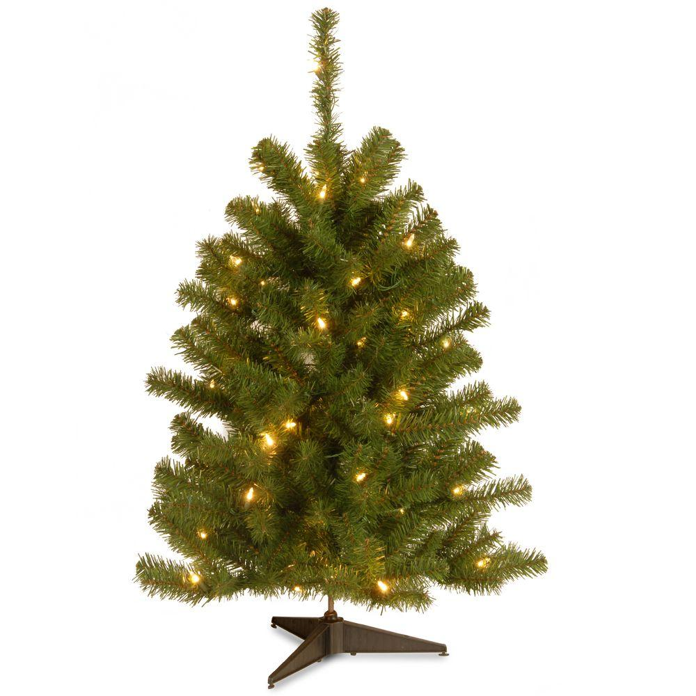 national tree company eastern spruce 3 ft artificial christmas tree with 50 clear lights - 3 Ft Christmas Tree