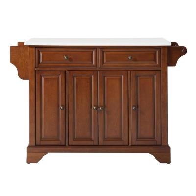 Lafayette Cherry Full Size Kitchen Island/Cart with Granite Top