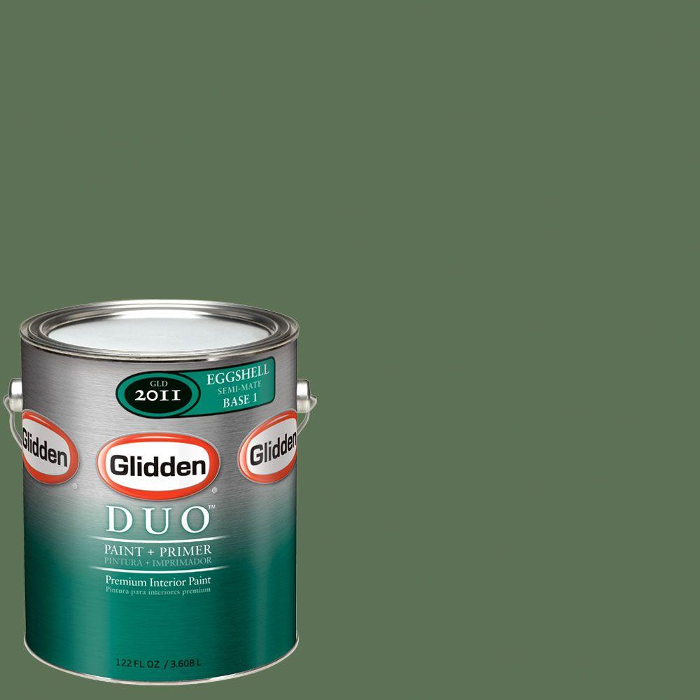 Glidden DUO Martha Stewart Living 1-gal. #MSL110-01F China Green Marble Eggshell Interior Paint with Primer-DISCONTINUED