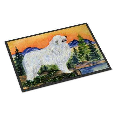 18 in. x 27 in. Indoor/Outdoor Great Pyrenees Indoor Outdoor Mat