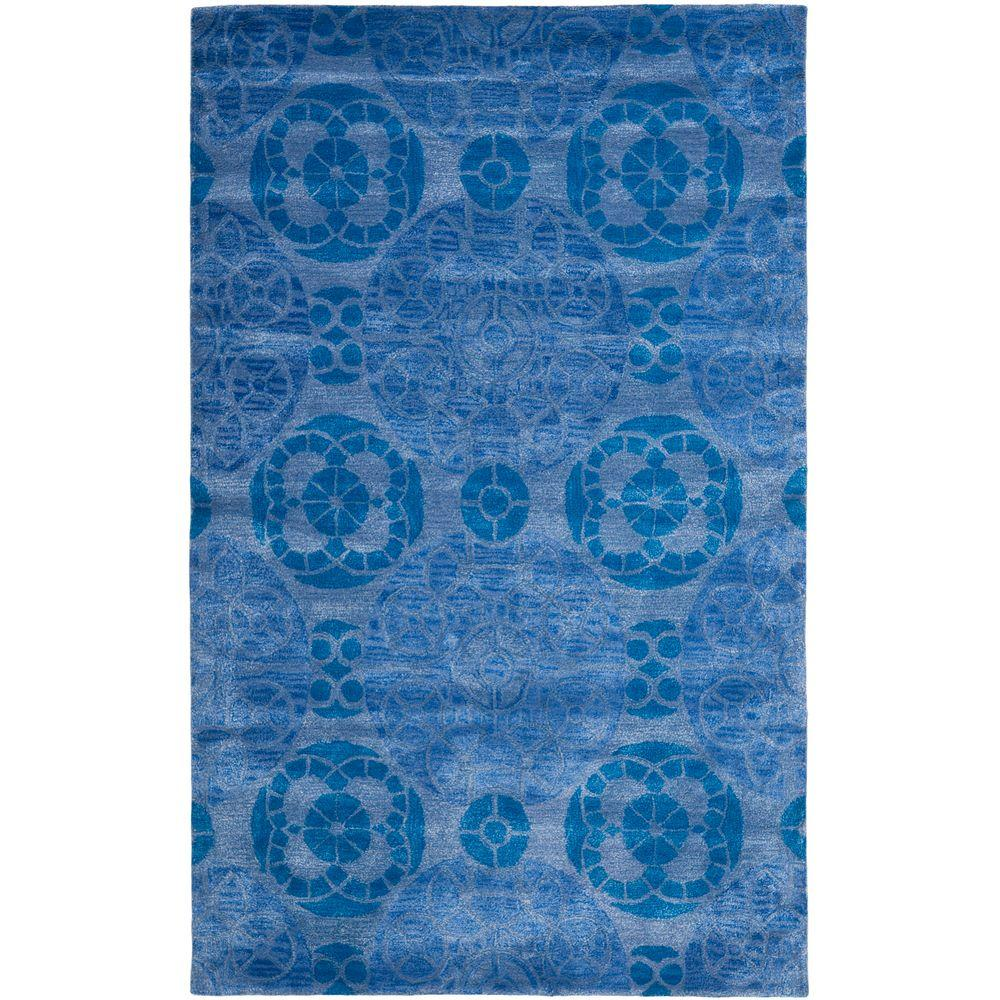 Wyndham Blue 4 ft. x 6 ft. Area Rug