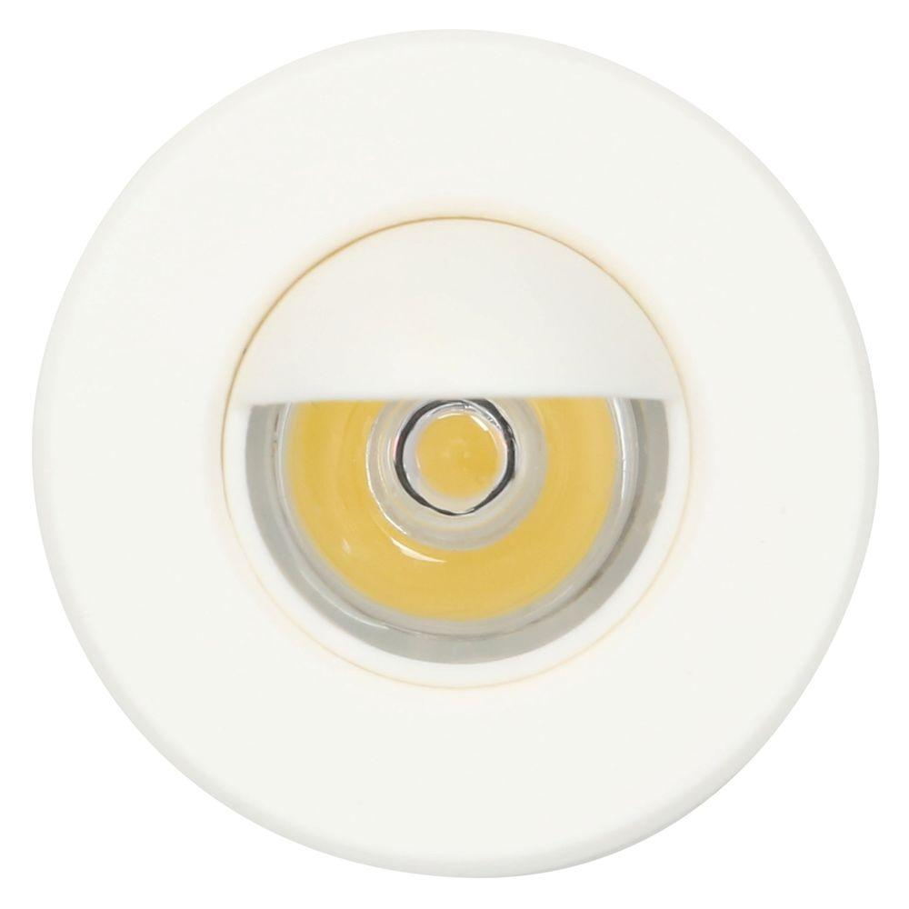Armacost Lighting Mini Warm White Integrated LED Recessed Puck Light with 1.5 in. White Polycarbonate Trim Ring