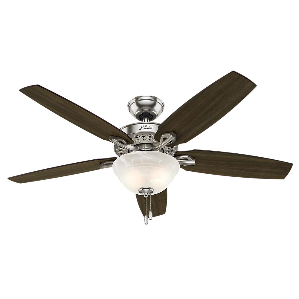 Heathrow 52 in. LED Indoor Brushed Nickel Ceiling Fan