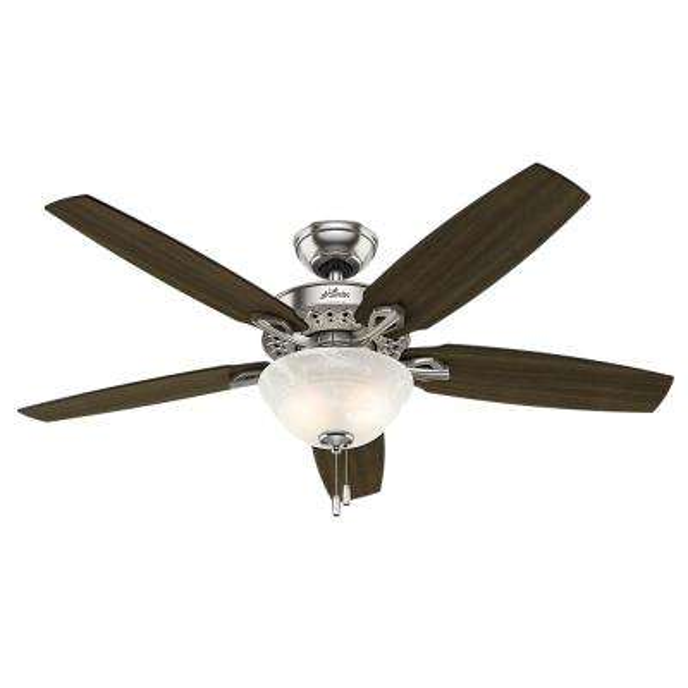 Heathrow 52 in. LED Indoor Brushed Nickel Ceiling Fan