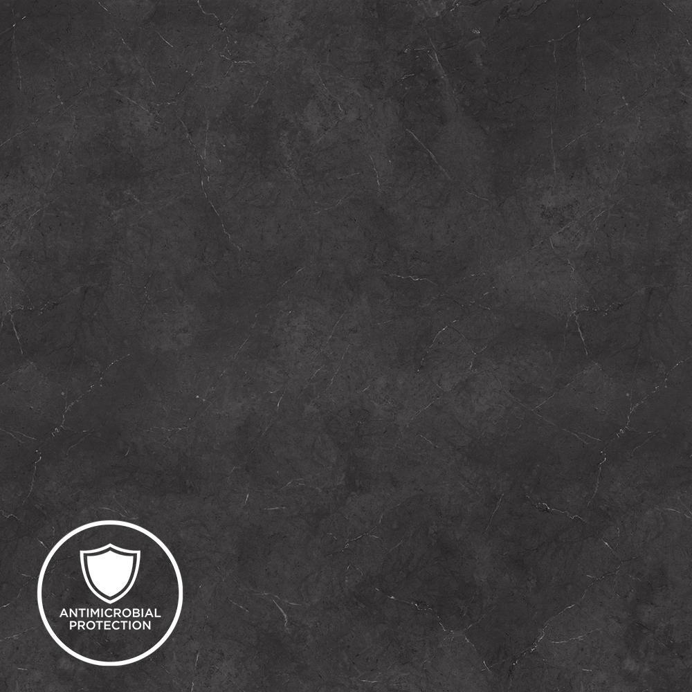 3 in. x 5 in. Laminate Countertop Sample in Black Alicante with Premium Textured Gloss