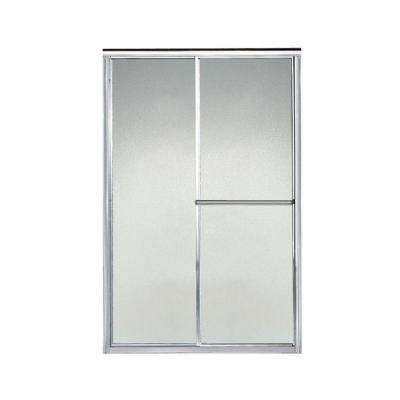 Deluxe 46-1/2 in. x 70 in. Framed Sliding Shower Door in Silver with Handle