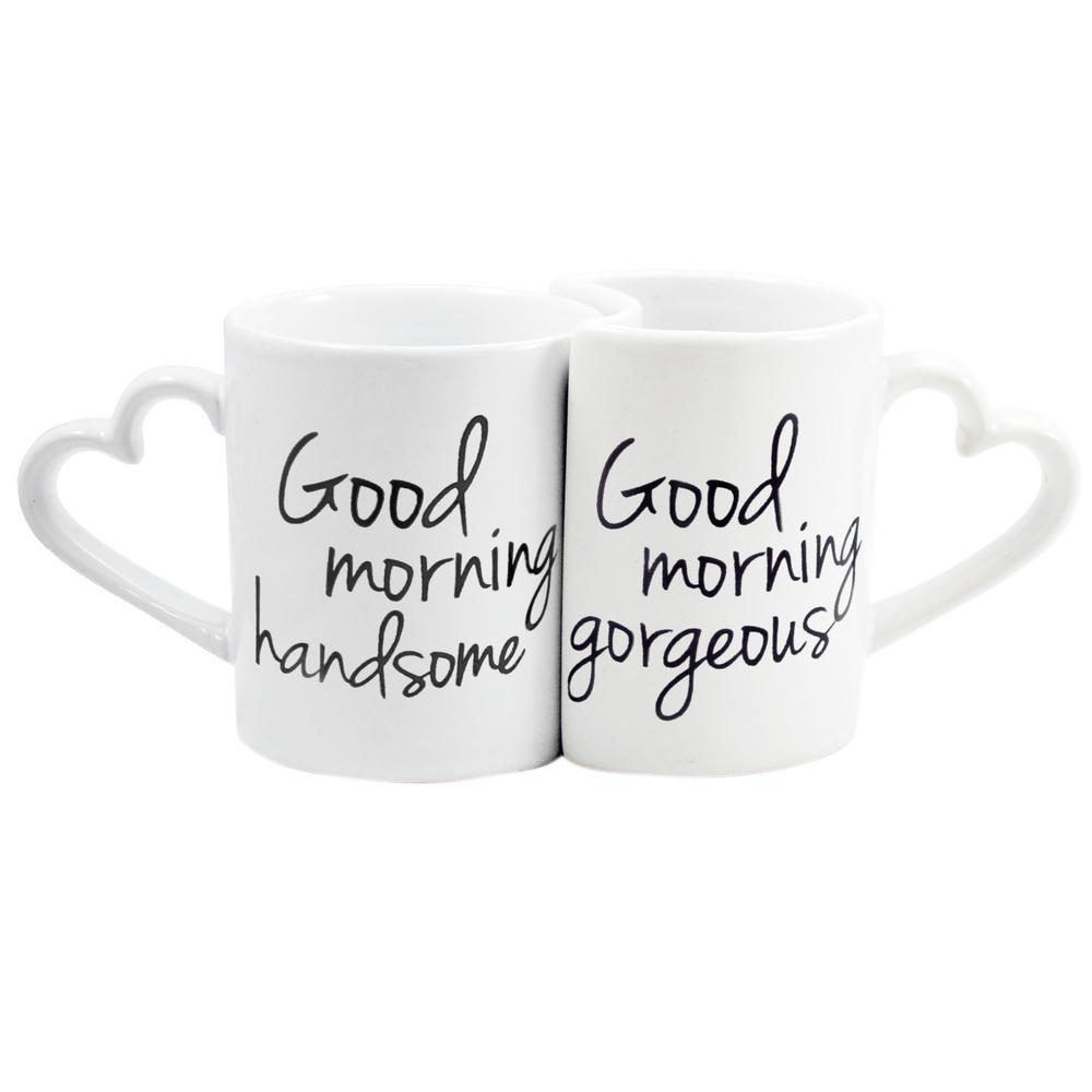 10 Oz Ceramic Good Morning Coffee Mugs Hg3600 The Home
