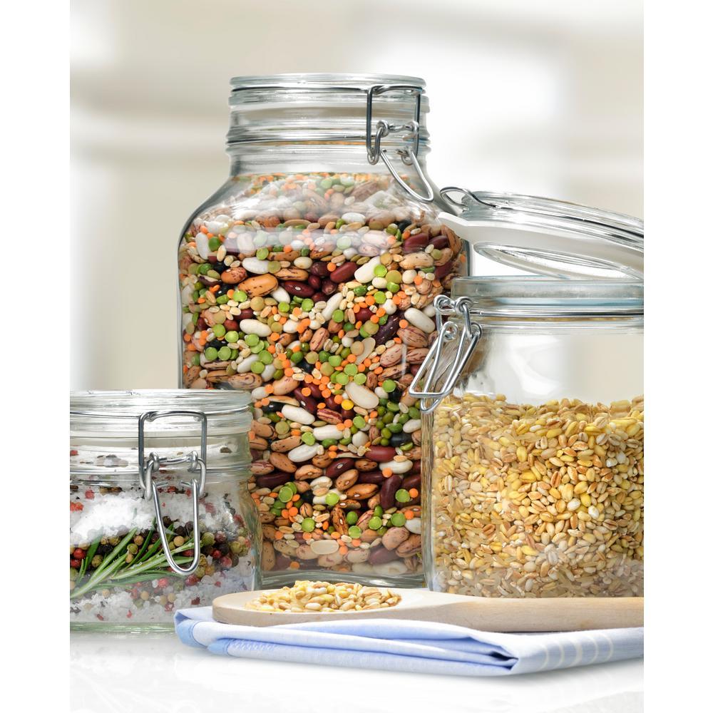 Bormioli Rocco 101.5 oz. Fido Glass Storage Jar (6-Pack),...