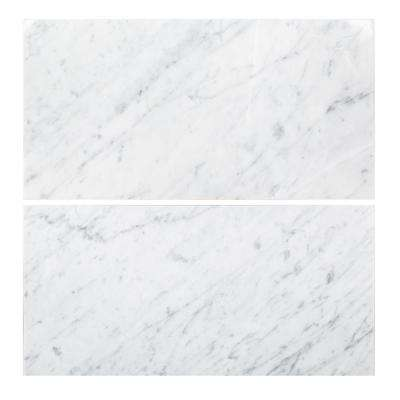 Jeffrey Court X Tile Flooring The Home Depot - Carrara marble tile sizes