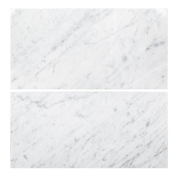 Carrara White 6 in. x 12 in. Honed Marble Wall and Floor Tile (1 sq. ft./Pack)
