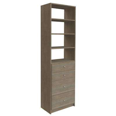 84 in. H x 24 in. W Coastal Haven Drawer and Shelving Tower Kit