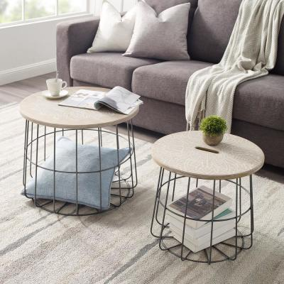 Wilkin Medallion Nesting Basket Tables