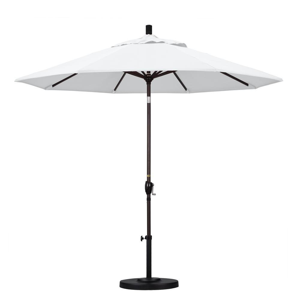 Oakland Living 9 ft. Patio Umbrella in White with Patio Umbrella ...