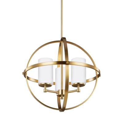 Alturas 3-Light Satin Bronze Chandelier