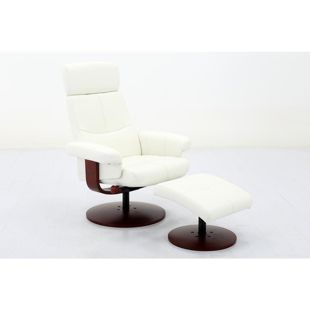 Mac Motion Chairs Comfort Chair Collection Roma White Polyurethane Recliner