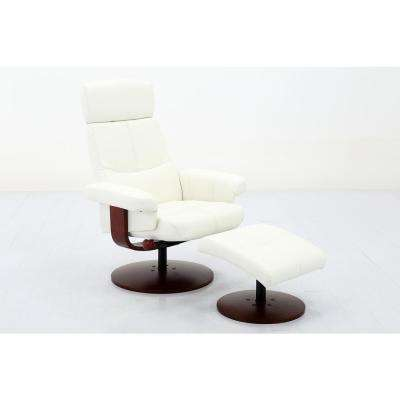 Comfort Chair Collection Roma White Polyurethane Recliner