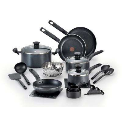 Initiatives 18-Piece Black Cookware Set with Lids
