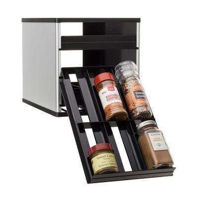 Original SpiceStack 18-Bottle Spice Organizer in Silver
