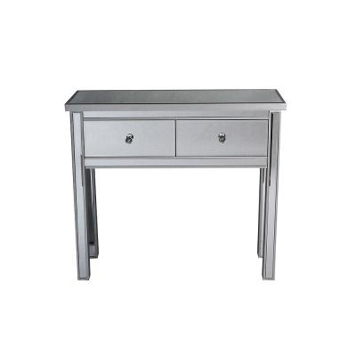 Shelly Silver Mirrored Console Table