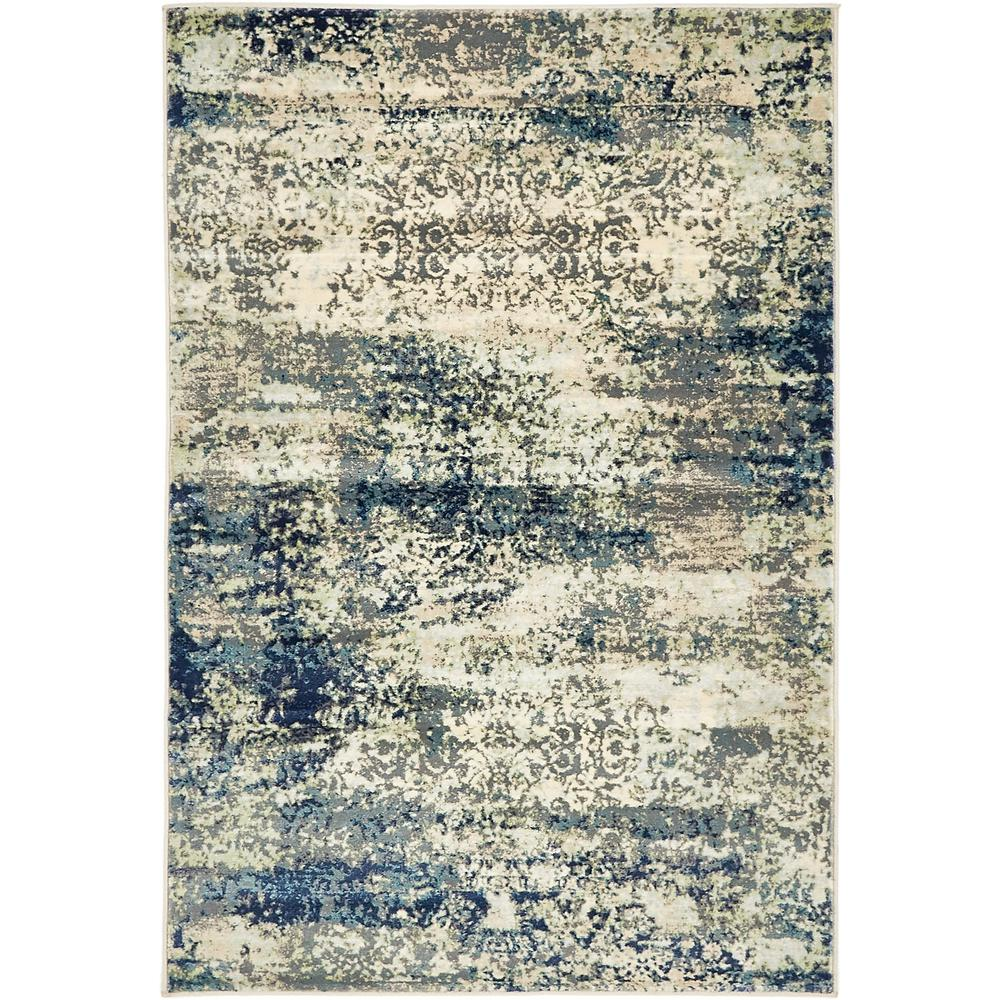 Unique Loom Ethereal Navy Blue 4 Ft X 6 Ft Area Rug