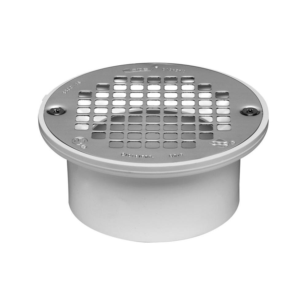 PVC Snap In General Purpose Floor Drain With 5 In. Strainer For PVC  Piping 43583   The Home Depot