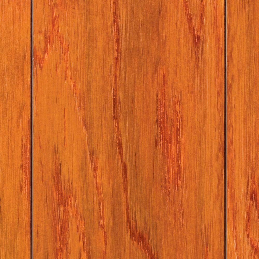 """Home Legend Hand Scraped Camila Oak 5/8 """" T x 3-1/2 """"W x 35-1/2"""" Len Click Lock Hardwood Flooring (20.71sqft/case)-DISCONTINUED"""