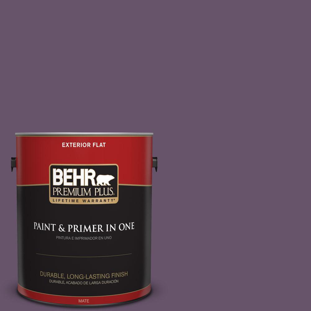 BEHR Premium Plus 1-gal. #M100-6 Vintner Flat Exterior Paint