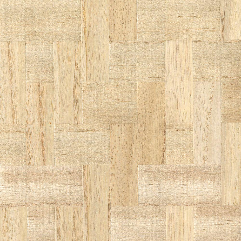 Lera Cream Wood Veneers Wallpaper Sample