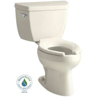 Wellworth Classic 2-piece 1.0 GPF Single Flush Elongated Toilet in Biscuit