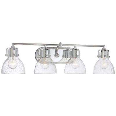 Clear Chrome Vanity Lighting Lighting The Home Depot Simple Chrome Bathroom Lighting Fixtures