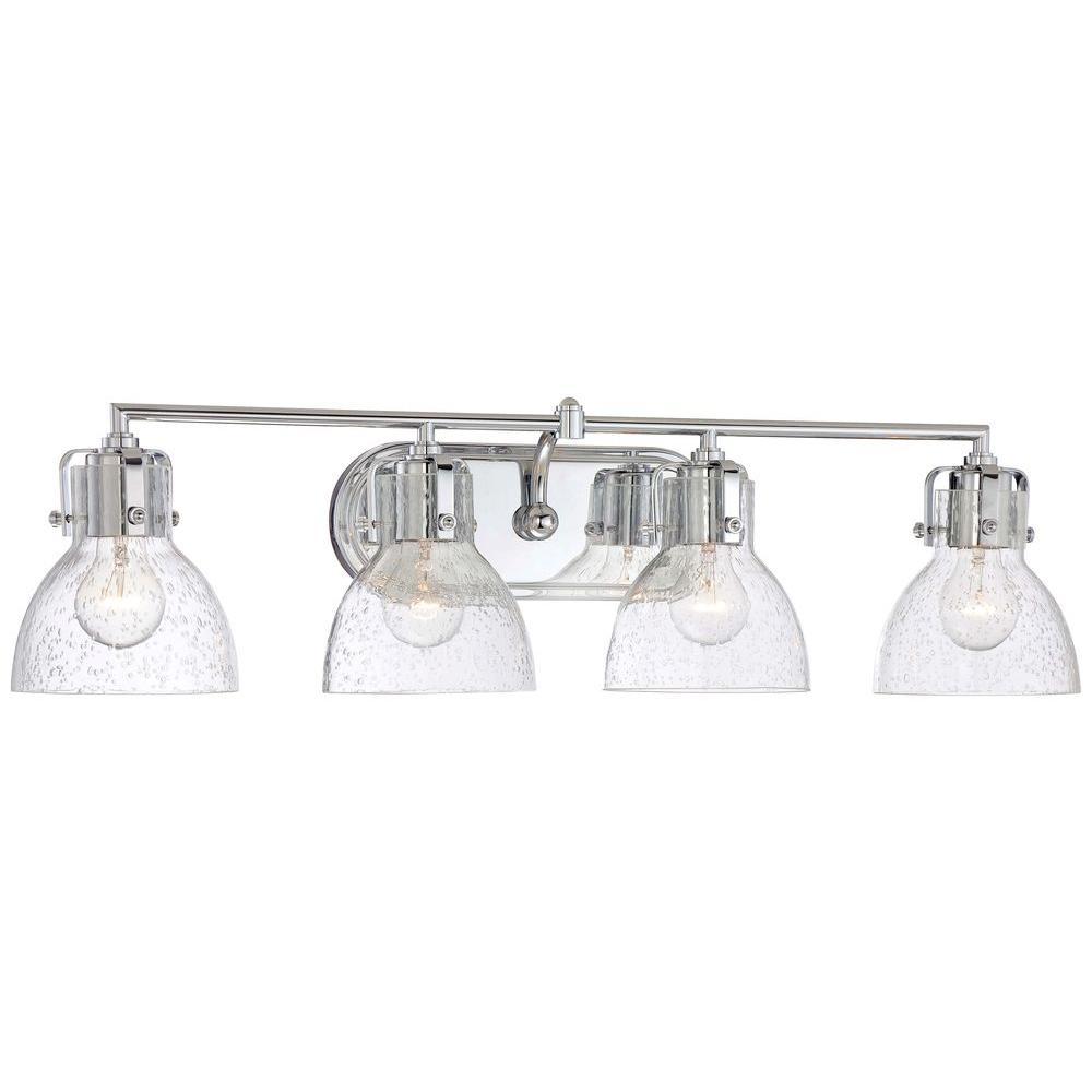 4-Light Chrome Bath Vanity Light