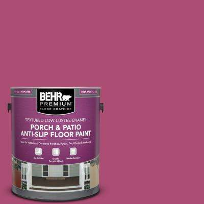1 gal. #100B-7 Hot Pink Textured Low-Lustre Enamel Interior/Exterior Porch and Patio Anti-Slip Floor Paint