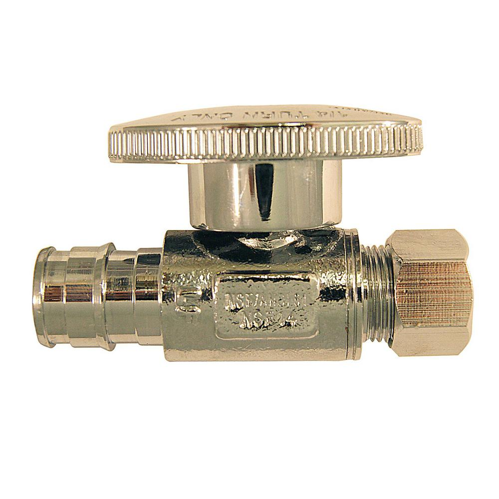 1/2 in. Chrome-Plated Brass PEX-A Expansion Barb x 3/8 in. Compression