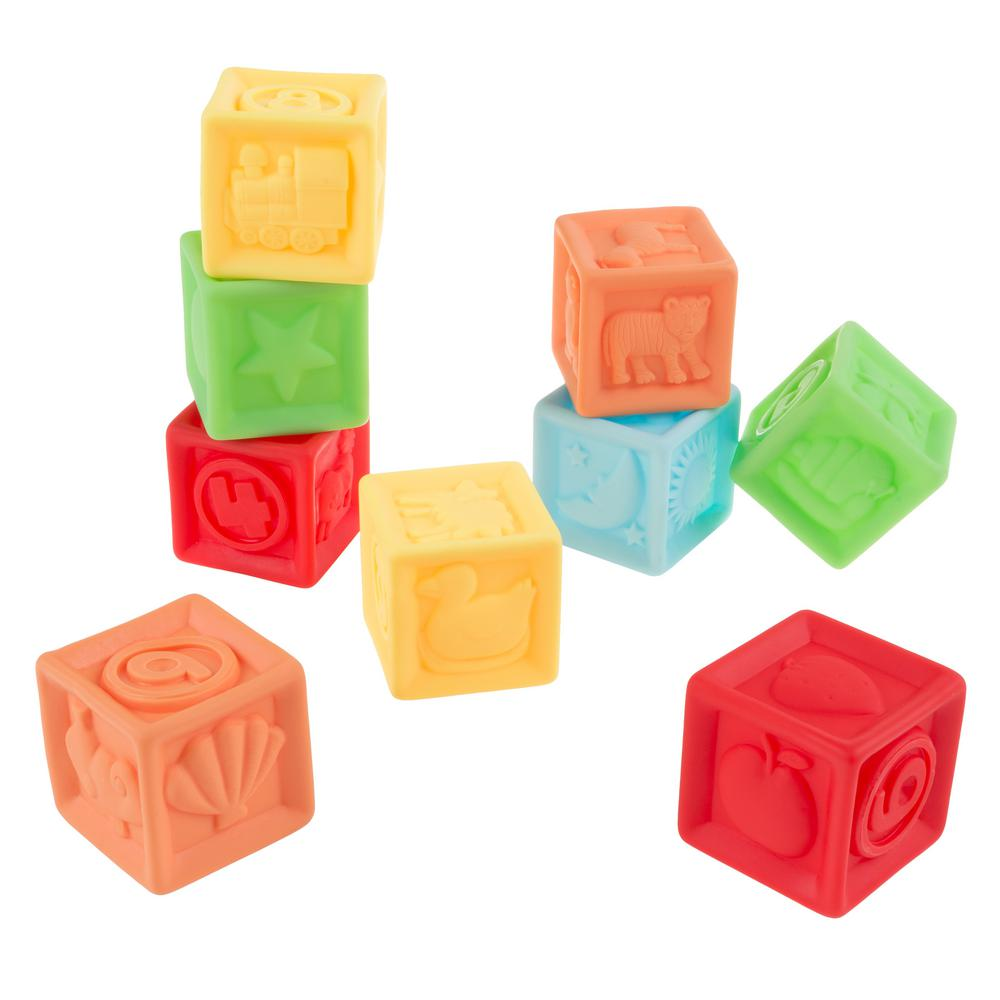 Soft Squeezable Rubber Number Blocks