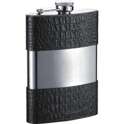 Ryan Handcrafted Black Leather Liquor Flask