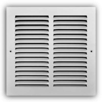 10 in. x 10 in. White Return Air Grille