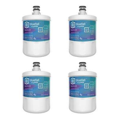 4 Compatible Refrigerator Water Filters Fits LG LT500P and Kenmore 46-9890 (Value Pack)