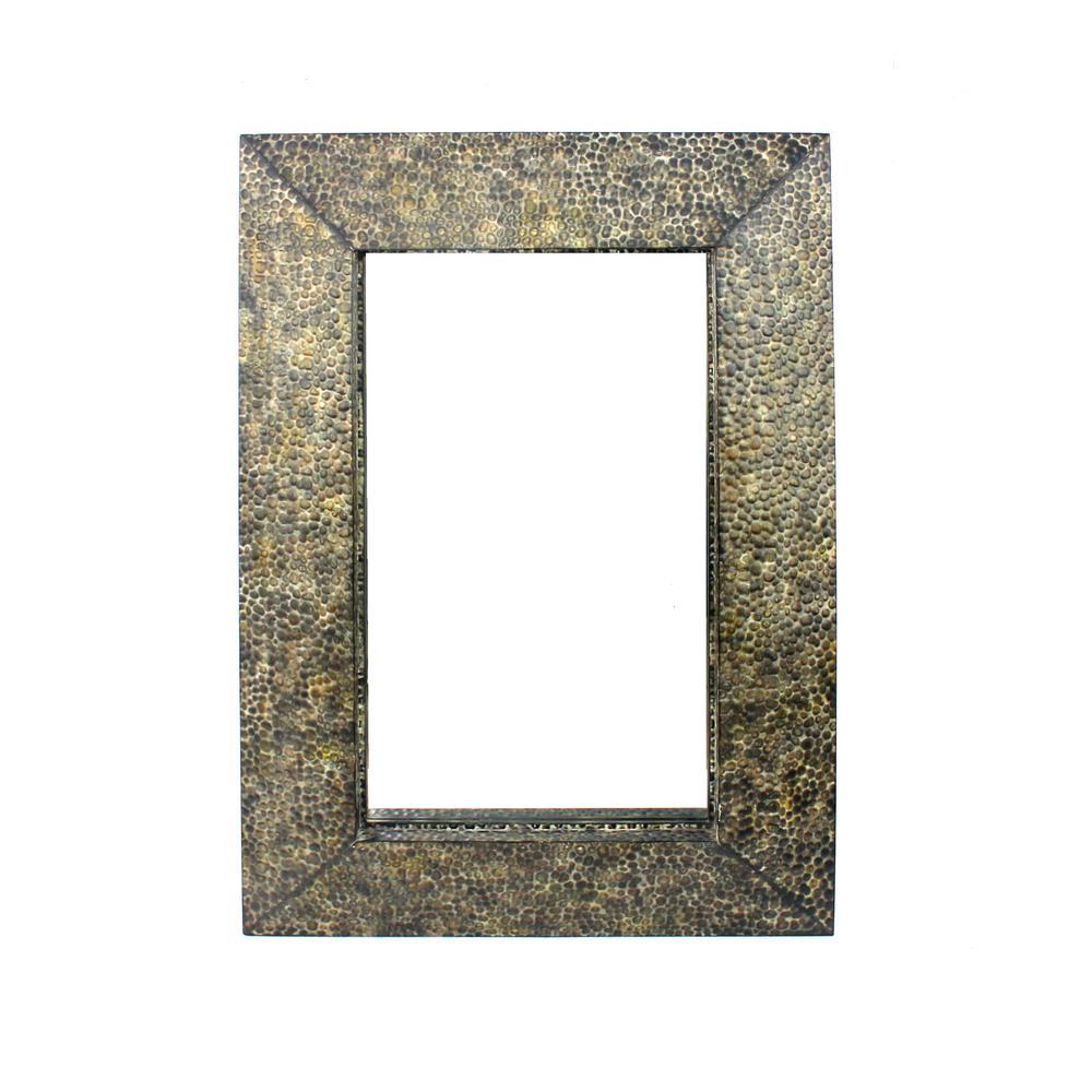 Bronze Metal Wall Mirror