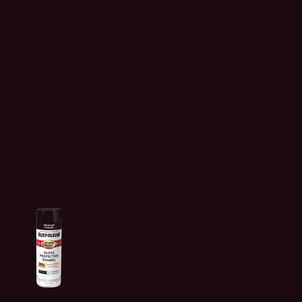 Rust-Oleum Stops Rust 12 oz. Advanced Protective Enamel Gloss Dark Walnut Spray Paint (6 Pack)