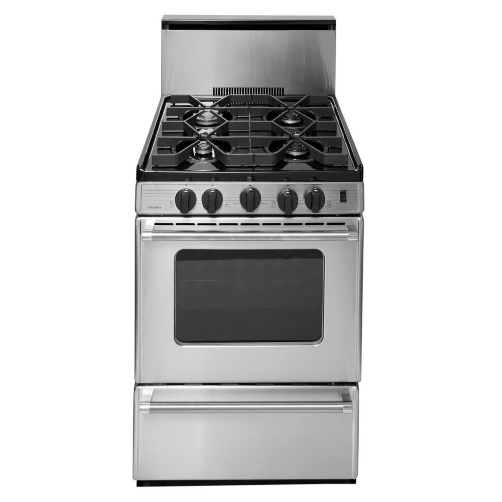 stove 24. premier proseries 24 in. 2.97 cu. ft. gas range in stainless steel stove 4