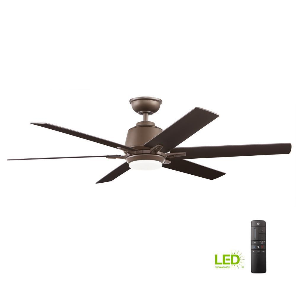 Home Decorators Collection Kensgrove 54 In Integrated Led Indoor Wire Gauge Chart Also House Light Wiring Diagram Together With Ceiling Espresso Bronze Fan