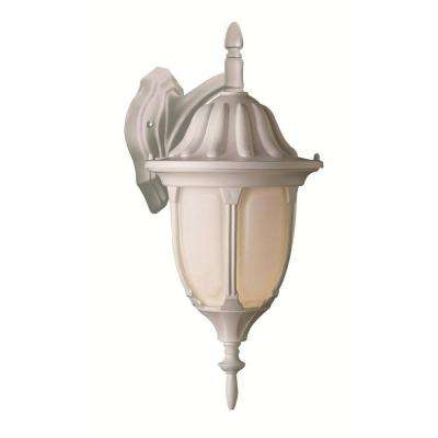 1-Light White Wall Lantern