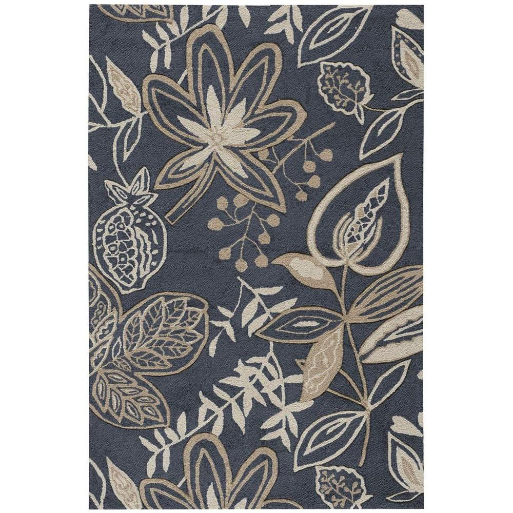 Nourison Fantasy Smoke 3 ft. 6 in. x 5 ft. 6 in. Area Rug