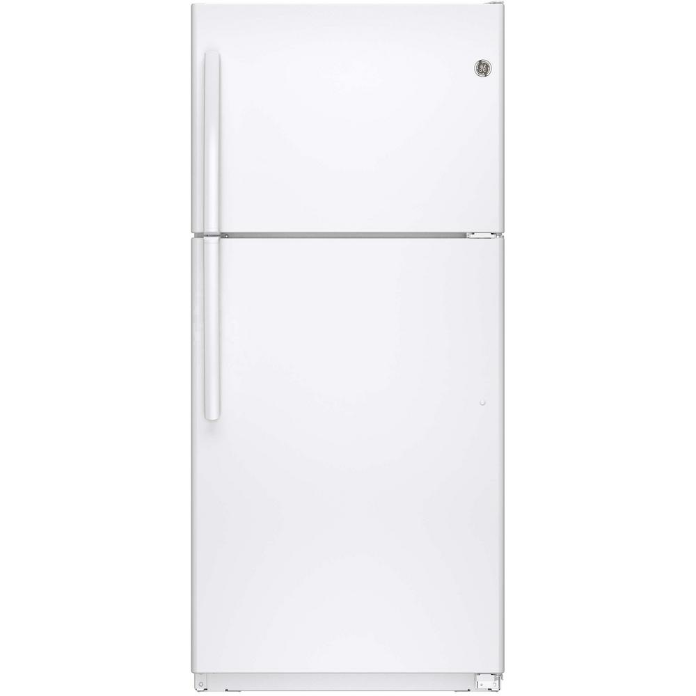 white ge top freezer refrigerators gie18ethww 64_1000 ge 18 2 cu ft top freezer refrigerator in white gie18ethww the Frigidaire Refrigerator Wiring Diagram at soozxer.org