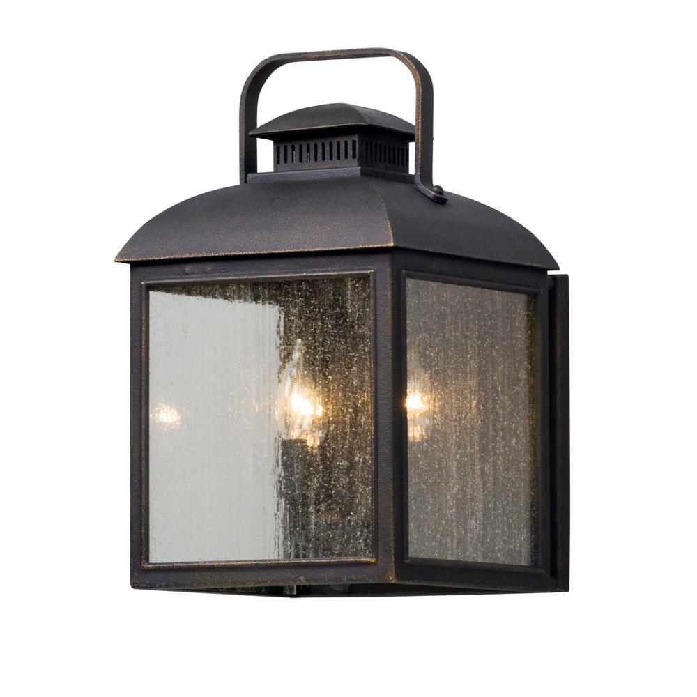Chamberlain 3-Light Vintage Bronze Outdoor Wall Lantern Sconce