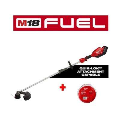 M18 FUEL 18-Volt Lithium-Ion Brushless Cordless String Trimmer with Quik-Lok Attachment Capability, 250 ft. Trimmer Line